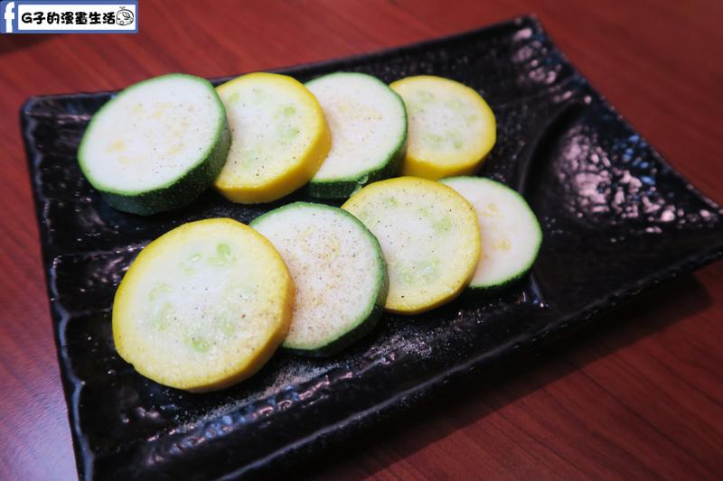 甘釜京 韓日燒肉料理專門店 烤櫛瓜