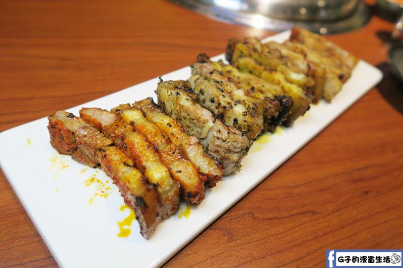 甘釜京 韓日燒肉料理專門店 溫體五色五花肉