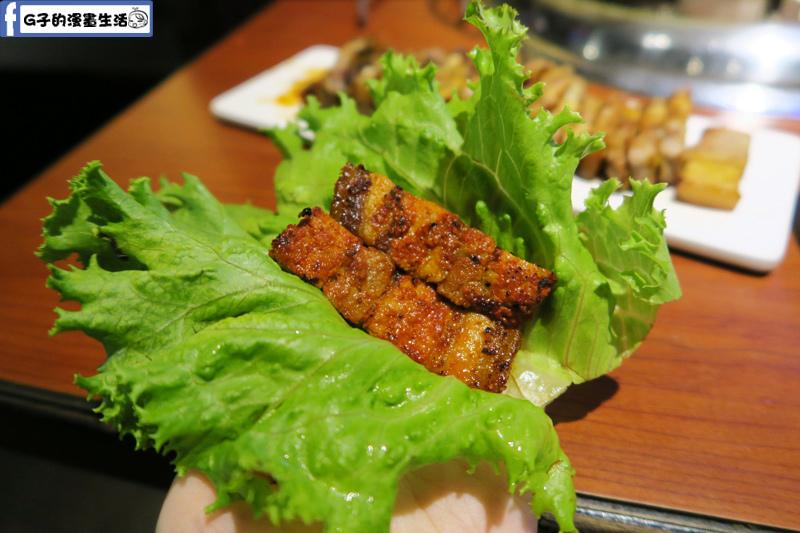 甘釜京 韓日燒肉料理專門店 生菜包肉