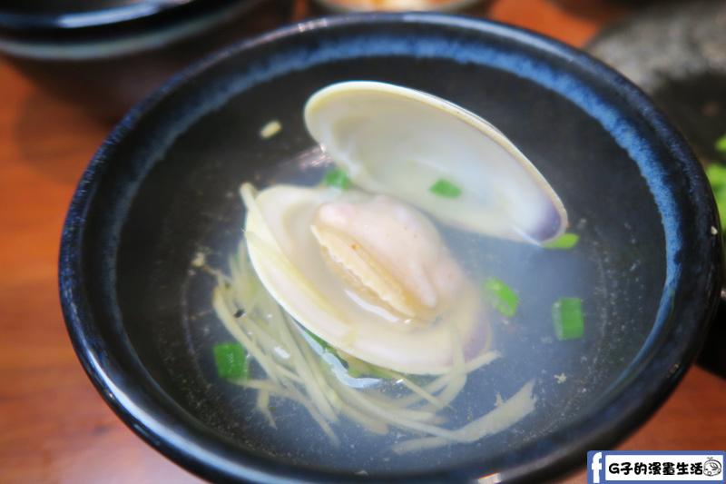 甘釜京 韓日燒肉料理專門店 烤大蛤 熱湯好喝
