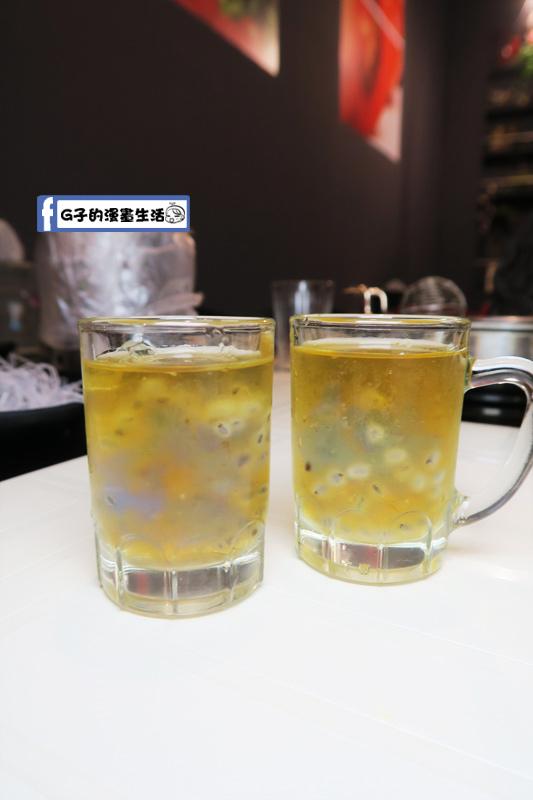 永和火鍋-高湯鍋 餐後甜點 冬瓜檸檬+蝶豆花果凍+山粉圓