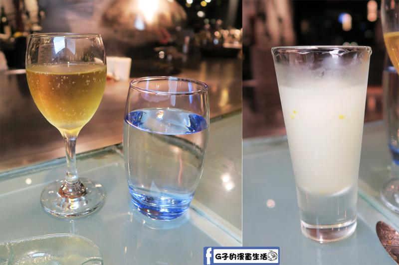 夏慕尼鐵板燒南昌店 1314情人套餐 香檳.水.檸檬sorbet