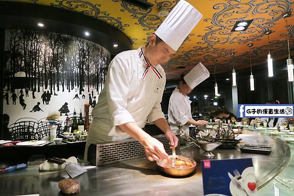 夏慕尼鐵板燒1314情人套餐 近距離的料理秀