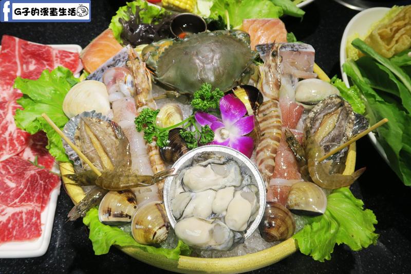 天鍋宴 天母店 台北火鍋 季節螃蟹.明蝦.鮭魚.鮑魚.蛤蜊.活蝦.鮮蚵.小卷.鱸魚.干貝.
