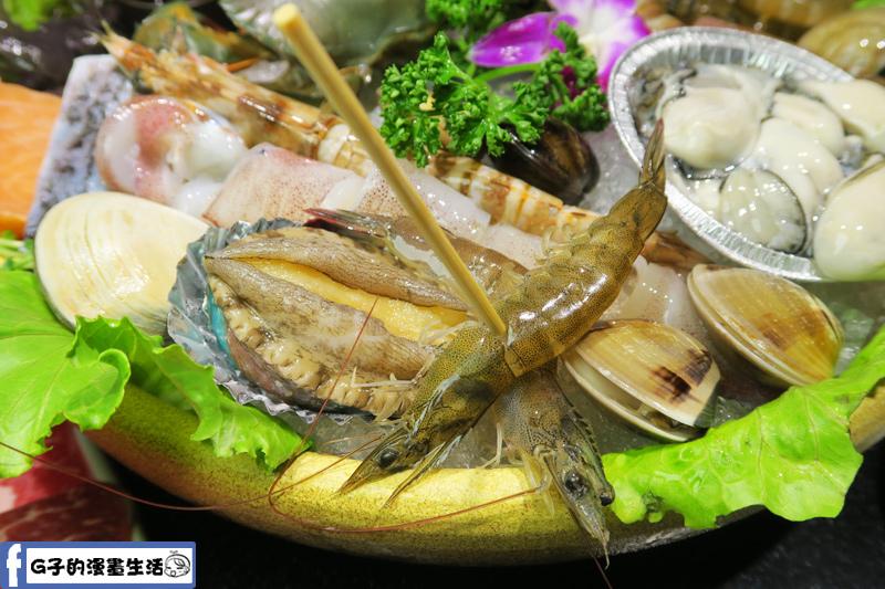 天鍋宴 天母店 台北火鍋 鮑魚跟活蝦上桌時都還是活的
