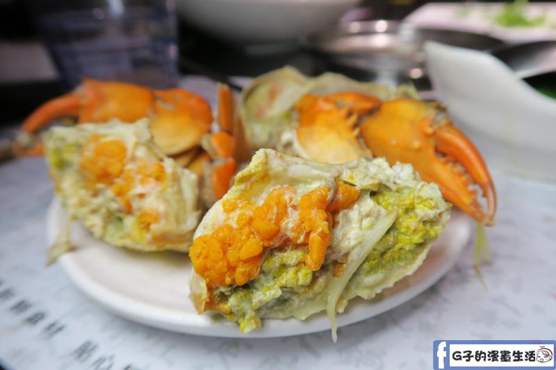 天鍋宴 天母店 台北火鍋 螃蟹肉滿多卵黃 沒有腥味