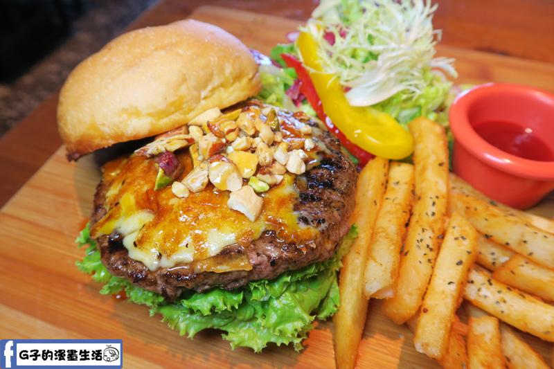 堅果焦糖牛肉漢堡 B超值套餐