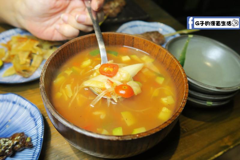 拾玖串燒居酒屋 番茄蔬菜湯
