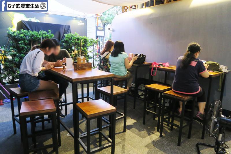 澠公製麵-信義區拉麵.戶外的用餐環境