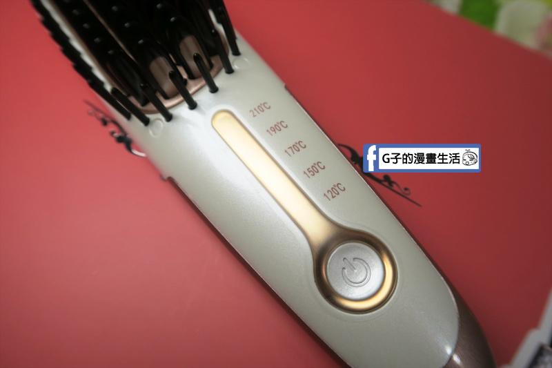 Anqueen溫控魔髮造型梳五段式控溫,120度.150度.170度.190度.210度