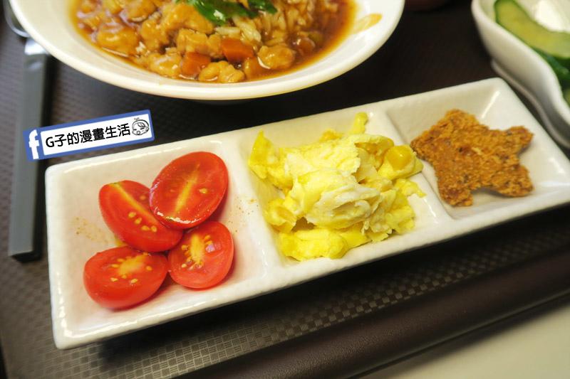 中永和/早午餐餐廳-小狐狸中西式料理.三杯雞飯+4樣配菜
