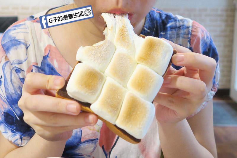 中永和/早午餐餐廳-小狐狸中西式料理.鮮奶厚片-棉花糖巧克力
