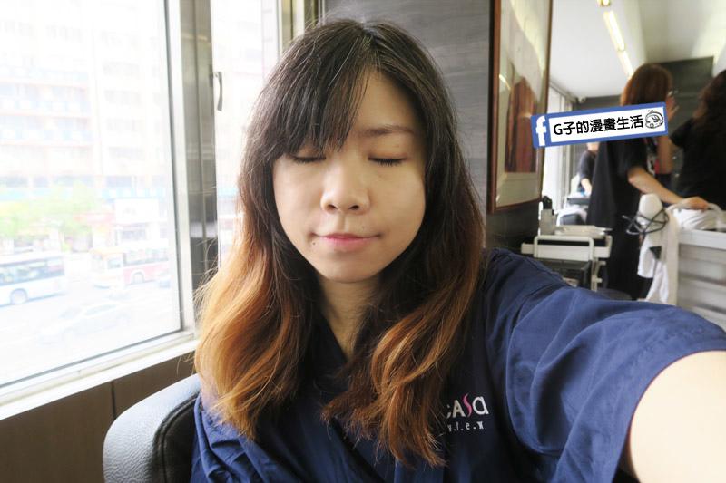 東區Casa&view Hair -G子染髮前 白髮很多 髮尾乾燥 布丁頭 髮色不均勻