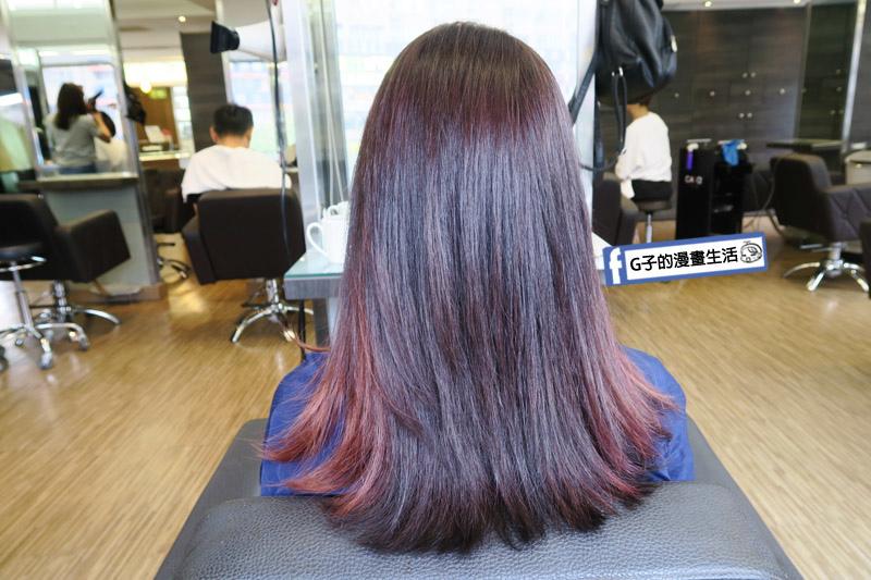 東區Casa&view Hair 設計師JOY染髮+歐拉護髮 染後充滿光澤感