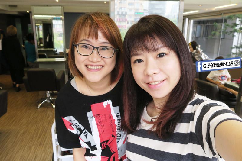 東區Casa&view Hair 設計師JOY和G子合照