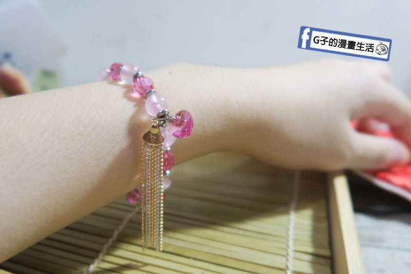 財神小舖  粉晶手鍊.粉水晶招桃花/助愛情.桃花之心手環 感覺粉嫩的粉水晶