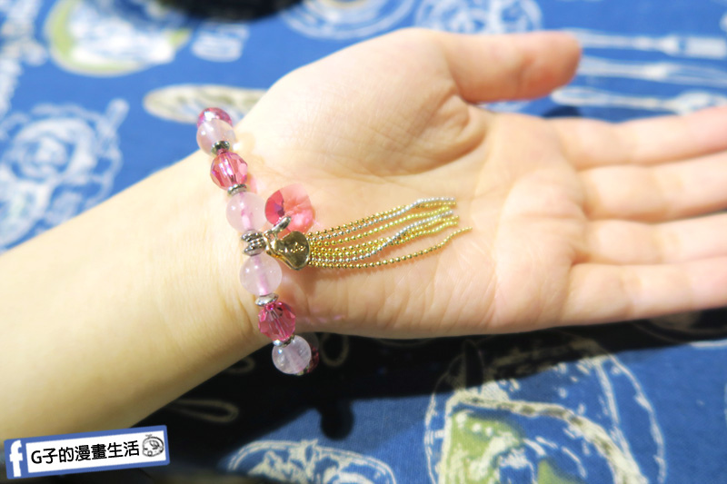 財神小舖  粉晶手鍊.桃花之心手環 女生戴起來還滿有氣質
