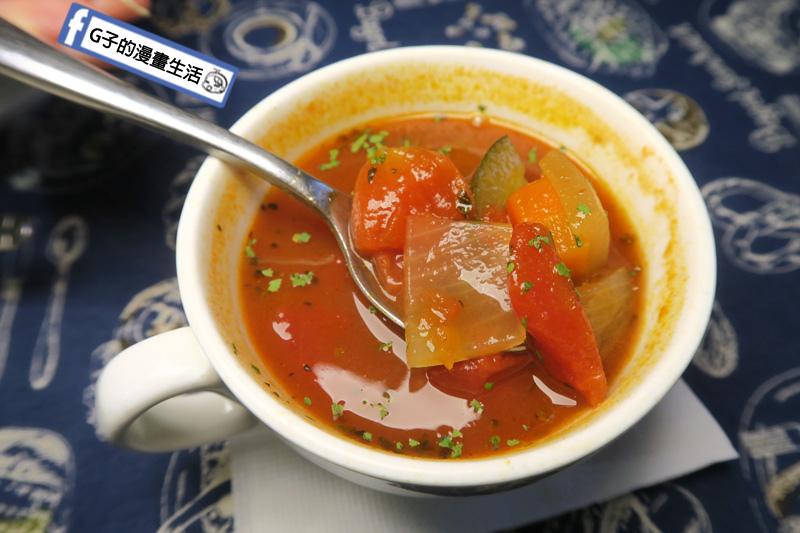 永和肥禿子美式餐廳-番茄蔬菜湯