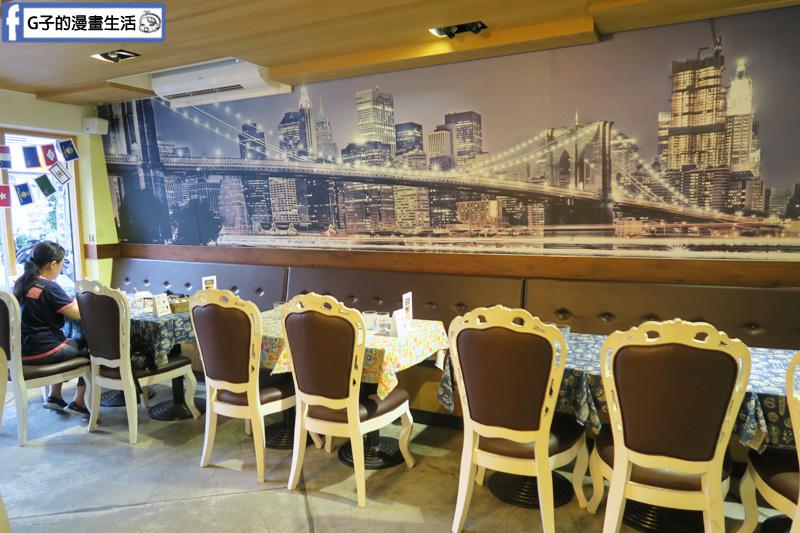 肥禿子美式餐廳Bald fatty bistro.永和四號公園親子友善餐廳. 空間寬敞