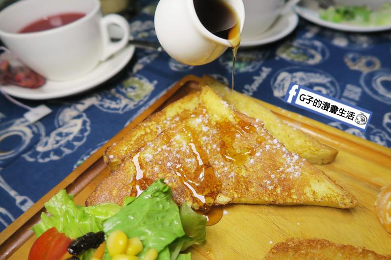 永和肥禿子美式餐廳-早午餐 青醬野菇雞肉歐姆蛋 法式吐司淋上蜂蜜