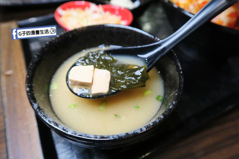 新丼 丼飯專賣店 味噌湯