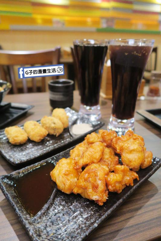 新丼 丼飯專賣店 炸物酸甜糖醋炸雞 海洋炸牡蠣+可樂