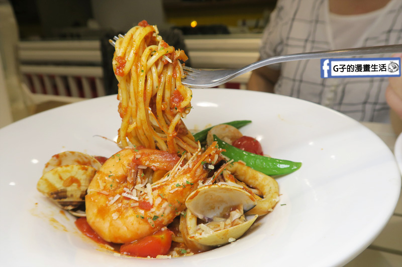 豐宇親子寵物友善餐廳 番茄海鮮義大利麵