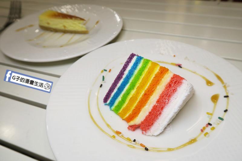 豐宇親子寵物友善餐廳 飯後甜點 彩虹蛋糕