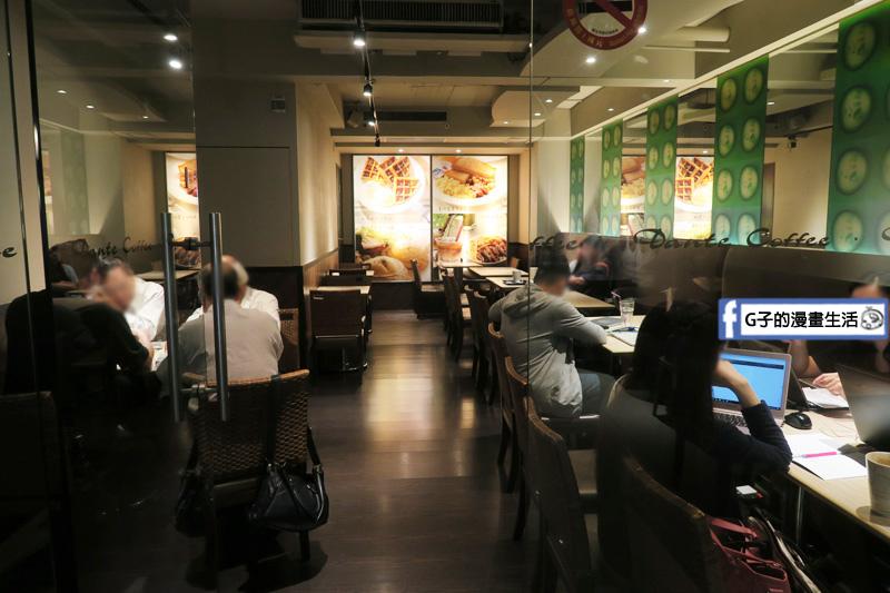 丹堤咖啡X G子的漫畫生活.下午茶咖啡甜點.大安站,環境1.2樓