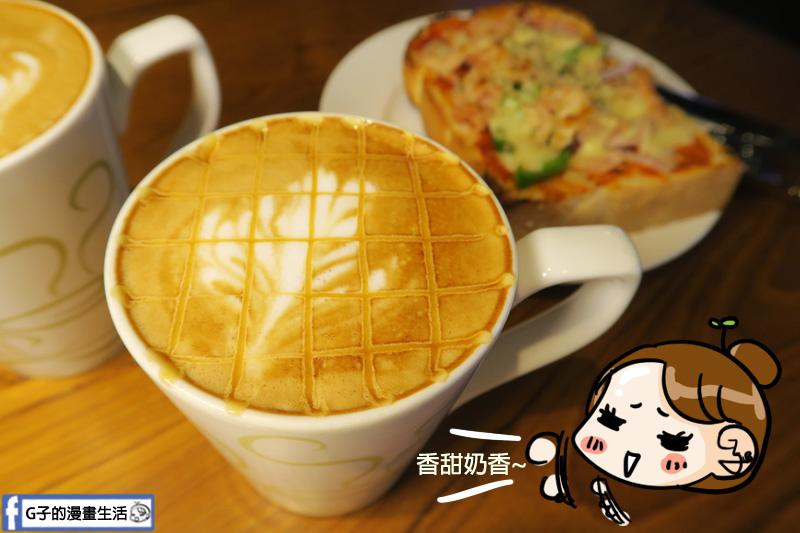 丹堤咖啡X G子的漫畫生活.下午茶咖啡甜點.焦糖瑪奇朵.大安站