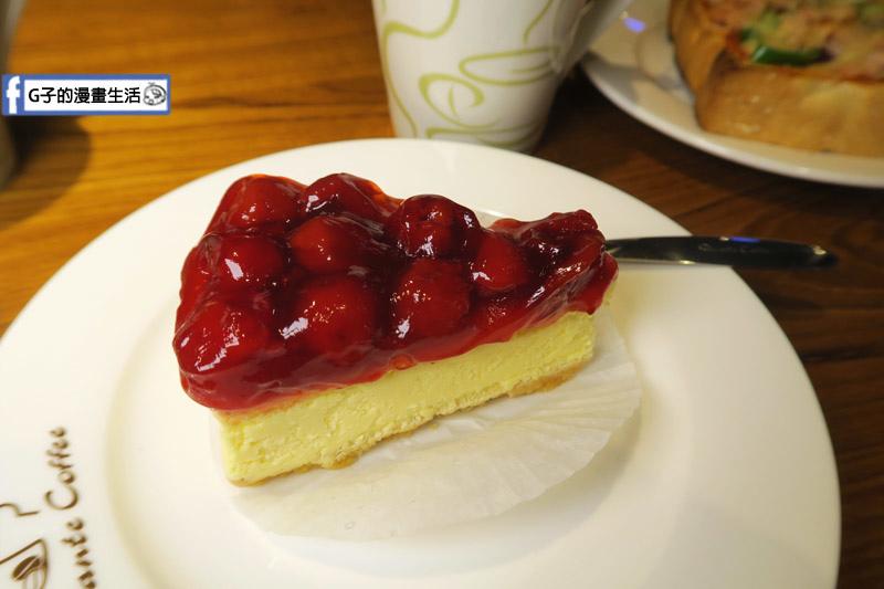 丹堤咖啡X G子的漫畫生活.櫻桃起司蛋糕 套餐搭咖啡