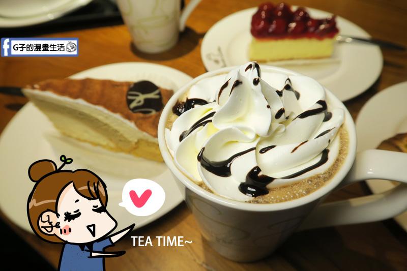 丹堤咖啡X G子的漫畫生活.櫻桃起司蛋糕 套餐搭摩卡咖啡