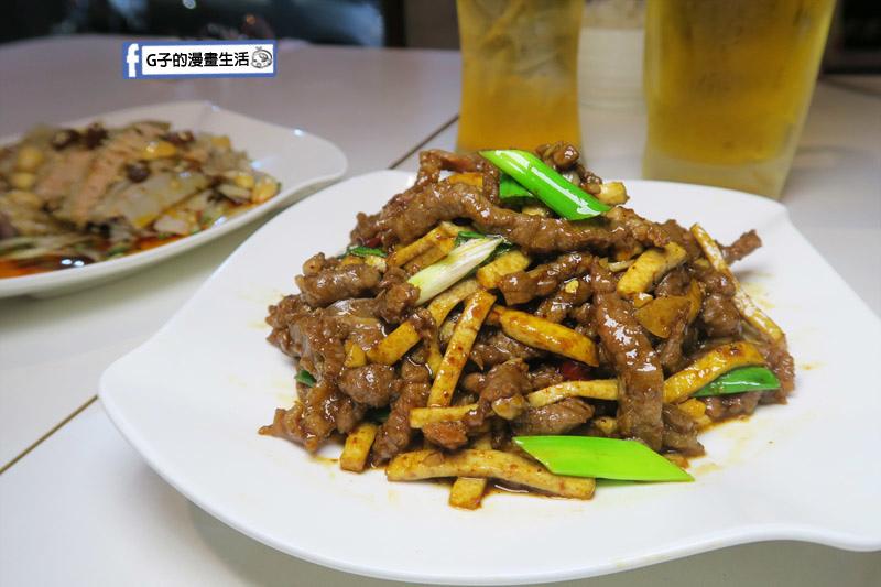 三重尻食堂.熱炒川菜中式餐酒館.豆干牛肉絲,肉超多~