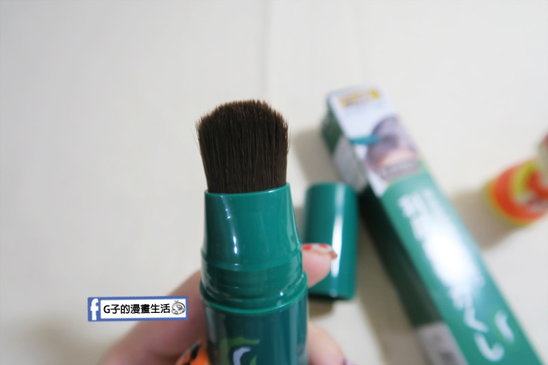 日本利尻昆布染髮筆.刷頭塗抹髮根.髮際更方便