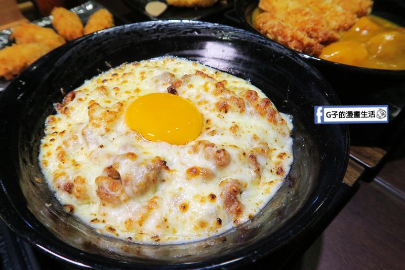 新丼日式丼飯專賣店-美式新丼 加上生雞蛋 牛肉可換豬肉