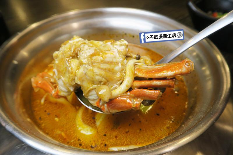 蘆洲火鍋 極禾優質鍋物蘆洲店 胡椒海鮮湯 有整隻螃蟹