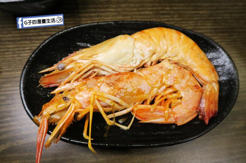 蘆洲火鍋 極禾優質鍋物蘆洲店 超值海陸雙人餐 蝦子很大尾