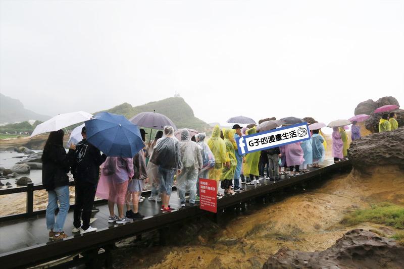 G子X哈旅行 台北包車一日遊.野柳地質公園 日韓觀光客眾多