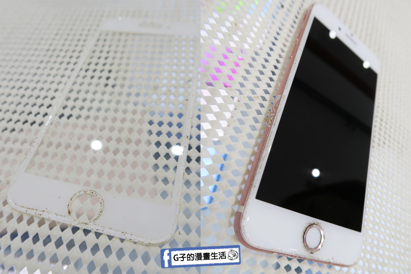 小豪包膜.iPhone 之前的玻璃保護貼內部都有灰塵