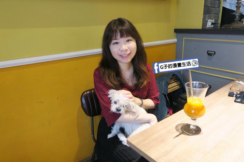 G子X貓子曬太陽 永和早午餐寵物友善 寵物毛小孩區