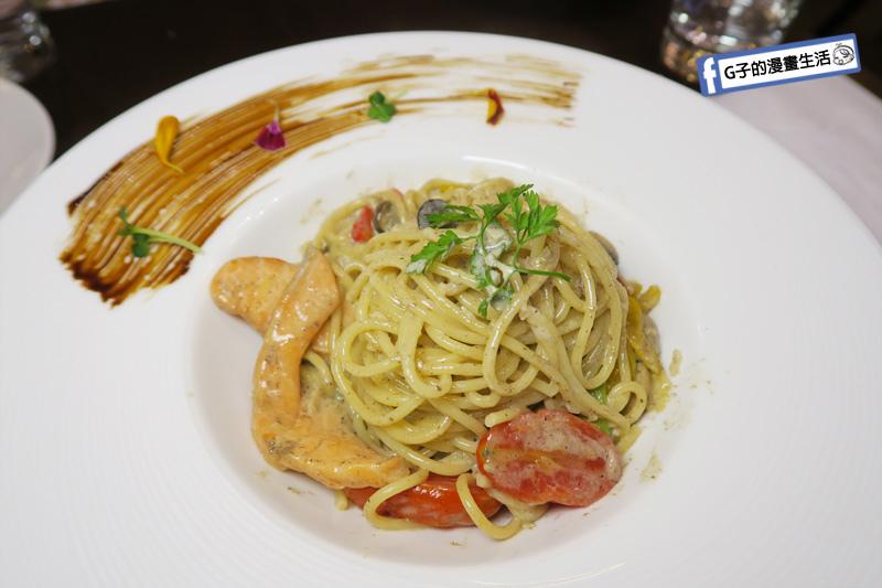 新莊慕拉諾義式餐廳 義大利麵-托斯卡尼風.白松露蘑菇.燻鮭魚