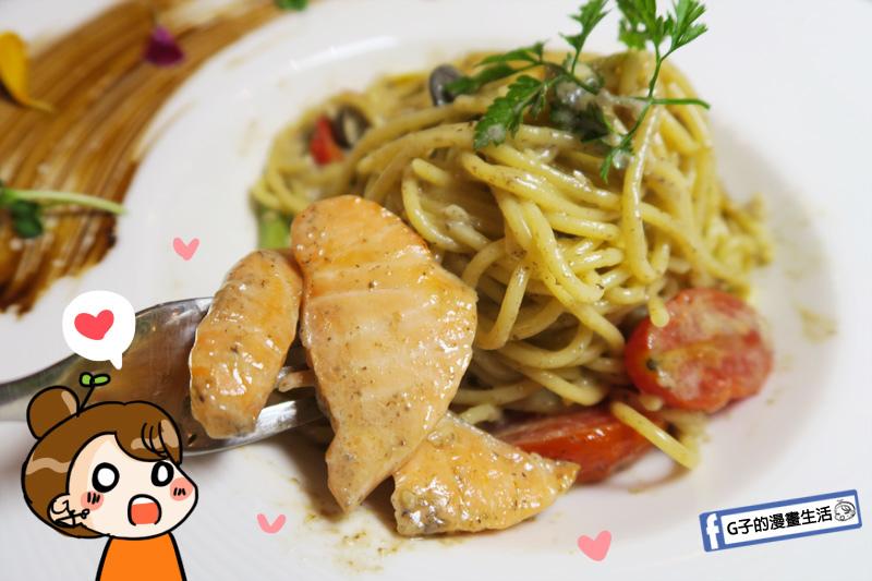 新莊慕拉諾義式餐廳 燻鮭魚也是自己煙燻 選用生食級鮭魚