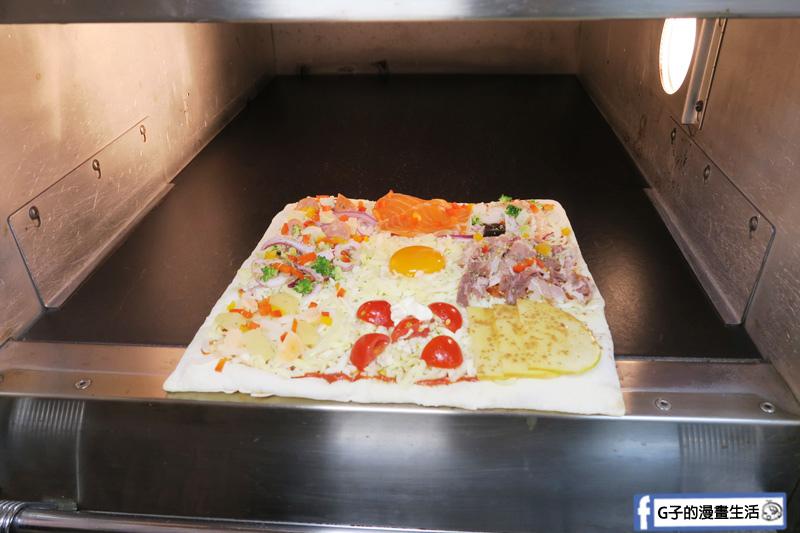 士林愛披薩 ipizza 現做九宮格自由拚披薩 方形披薩