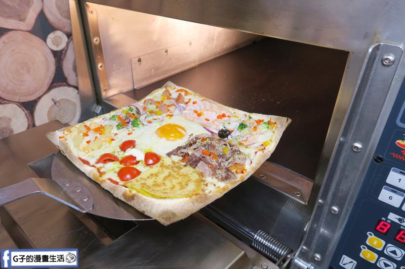 士林愛披薩 ipizza 現做九宮格披薩 方形披薩