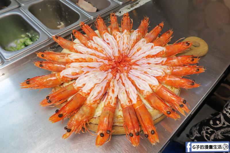 士林愛披薩 ipizza 大海蝦 海大俠X3倍蝦子都去腸泥了