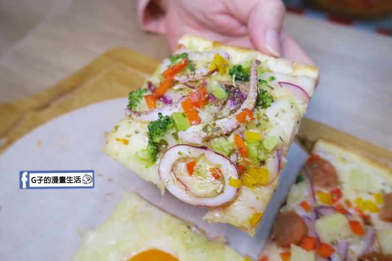 士林愛披薩 ipizza 九宮格披薩 青醬透抽口味