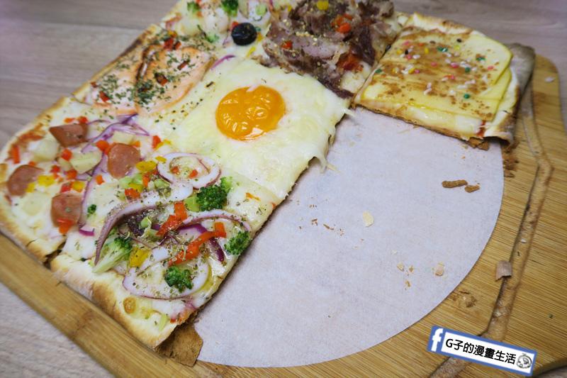 士林愛披薩 ipizza  披薩餅皮薄脆幾乎不油