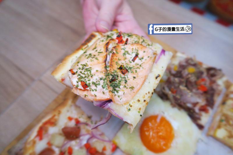 士林愛披薩 ipizza 九宮格披薩 鮭魚口味