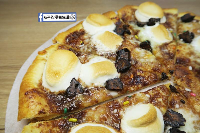 士林愛披薩 ipizza 甜點披薩 巧克力香蕉棉花糖 有香甜芭蕉乾