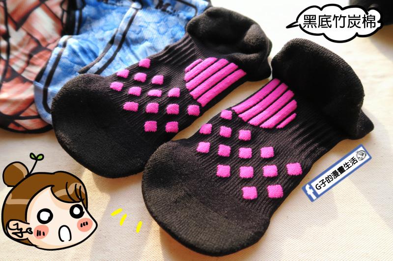 美肌刻 抗菌除臭潮鞋踝襪.黑底竹炭棉耐磨